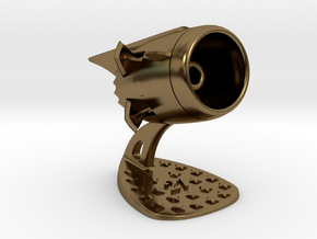 Jet Engine Desk Display [21 Stars] in Polished Bronze