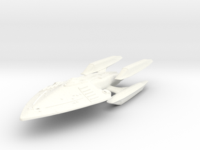 Patton Class HvyCruiser in White Strong & Flexible Polished