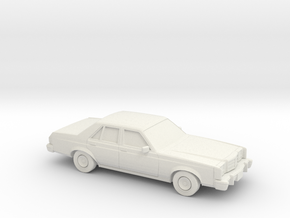 1/87 1978-80 Ford Granada Sedan in White Natural Versatile Plastic