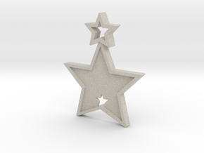 Star Pendant (Customizable) in Natural Sandstone