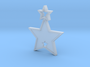 Star Pendant (Customizable) in Smooth Fine Detail Plastic