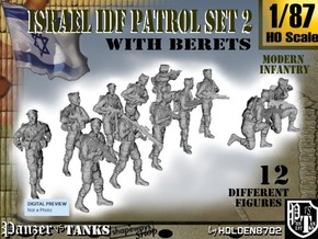 1-87 IDF BERET PATROL SET 2 in Frosted Ultra Detail