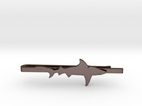 SHARK TIE CLIP in Polished Bronze Steel