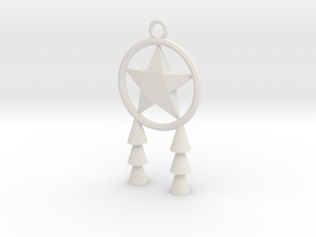 Miniature Parol in White Natural Versatile Plastic