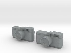 Camera Cuff Links in Polished Metallic Plastic