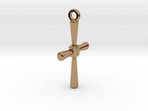 Caedmon's Cross in Polished Brass