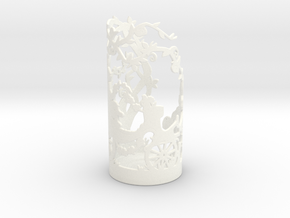 Tea Light Holder Spring in White Processed Versatile Plastic