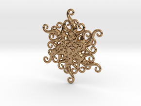 Snowflake Ornament in Polished Brass