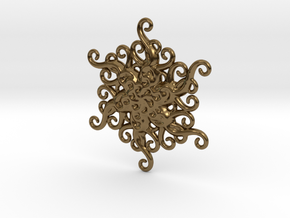 Snowflake Ornament in Polished Bronze