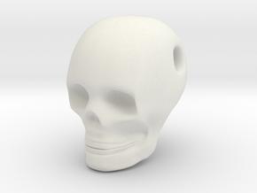 Skull Pendant in White Natural Versatile Plastic