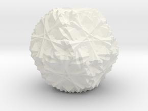 Cuboctahedron 30 Compound, Solid in White Natural Versatile Plastic