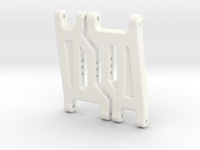 Quadra RC10 V2 Front Arms in White Strong & Flexible Polished