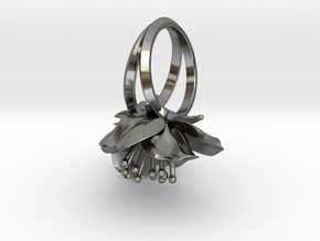 Double Cherry Blossom Ring in Polished Silver: 4.5 / 47.75