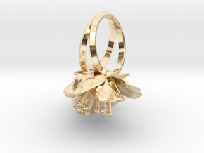 Double Cherry Blossom Ring in 14k Gold Plated Brass: 4.5 / 47.75