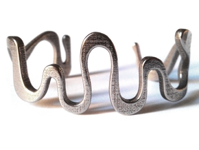 SNAKE cuff in Stainless Steel: Medium
