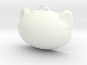 Neko Charm in White Processed Versatile Plastic