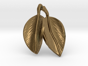leaves pendant in Natural Bronze