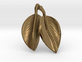 leaves pendant in Natural Bronze