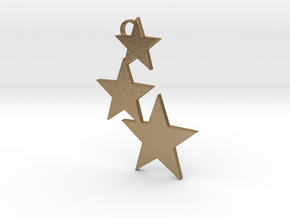 Holiday Stars Ornament in Polished Gold Steel