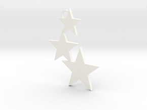 Holiday Stars Ornament in White Processed Versatile Plastic