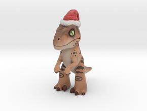 Velociraptor Christmas in Full Color Sandstone