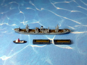 German WWII Hansa Type 9000 Freighter & Tug 1/1800 in Smooth Fine Detail Plastic