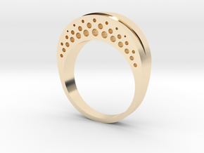 Evaporation Ring - US Size 06 in 14k Gold Plated Brass