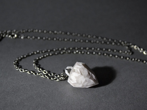 Crystal Pendant in White Natural Versatile Plastic
