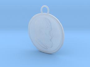Epicurus Pendant 1.5 inches in Smooth Fine Detail Plastic