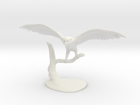 Owl Landing in White Natural Versatile Plastic