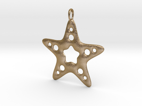 Starfish Pendant in Polished Gold Steel