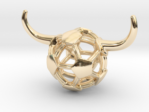 iFTBL Tauros / The One ' in 14k Gold Plated Brass