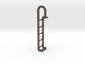 Tender End Ladder in Polished Bronzed Silver Steel