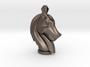 Knight Dream(pendant) in Polished Bronzed Silver Steel