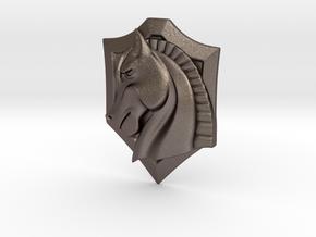 Knight Dream(emblem) in Polished Bronzed Silver Steel