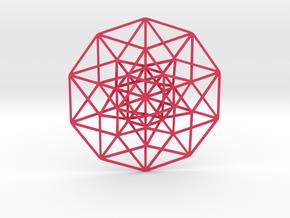 "5D Hypercube 5.5"" in Pink Processed Versatile Plastic"