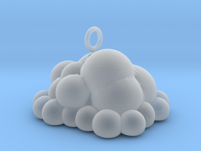 Puffy Cloud Dangler - 4cm in Smooth Fine Detail Plastic