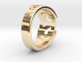 CADDRing-17.0mm in 14K Yellow Gold