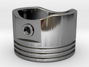 Piston - US Size 8.5 in Fine Detail Polished Silver