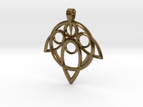 Yuna Summoner Pendant  in Polished Bronze