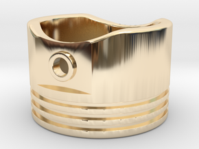 Piston - US Size 8 in 14k Gold Plated Brass