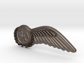 Half-Wings in Polished Bronzed Silver Steel