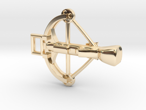Crossbow Charm in 14k Gold Plated Brass