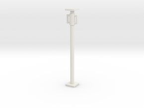 1:50 Short Scaffolding pipe / Concrete support in White Natural Versatile Plastic