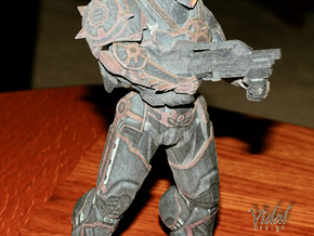 Raider + ArxBuster - Tribes Ascend - 18cm in Full Color Sandstone