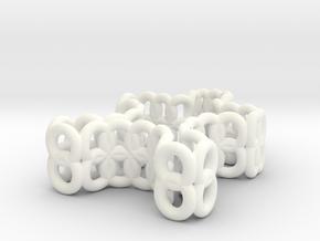 mini puzzle piece in White Processed Versatile Plastic