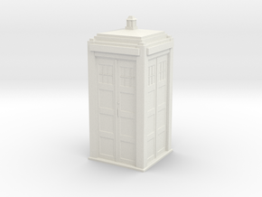 HO (1:87.1) Tardis in White Natural Versatile Plastic