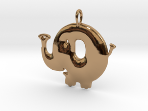 Baby Elephant Pendant in Polished Brass