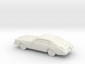 1/87 1980-85 Cadillac Seville in White Natural Versatile Plastic