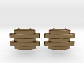 Strap Cufflinks in Polished Bronze
